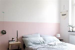 Schlafzimmer Rosa Grau : eine rosa wand f r das schlafzimmer neue bettw sche aus leinen craftifair ~ Frokenaadalensverden.com Haus und Dekorationen