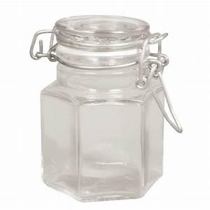 Bocal En Verre Avec Couvercle : mini bocal octogonal en verre avec couvercle basculant rayher chez rougier pl ~ Teatrodelosmanantiales.com Idées de Décoration