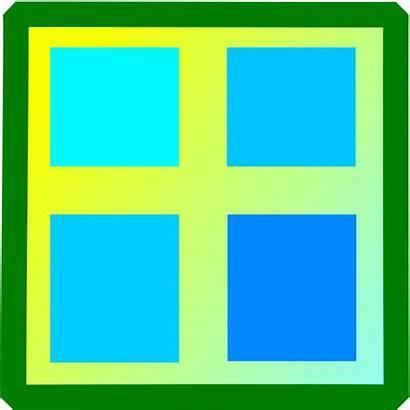 Window Clip Clipart Windows Square Rectangle Cartoon