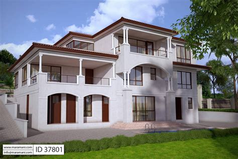 7 Bedroom House Design  ID 37801  House Designs by Maramani