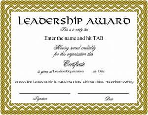 image gallery leadership certificate With certificate of leadership template