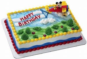 MICKEY MOUSE & PLUTO AIRPLANE Cake Kit Topper Birthday ...