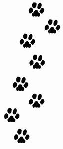 Paw clipart trail - Pencil and in color paw clipart trail