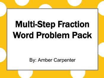 Multiplying Fractions, Fractions And Word Problems On Pinterest