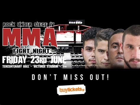siege mma rock siege 4 mma fight buy tickets gibraltar