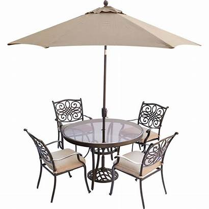 Dining Umbrella Table Outdoor Round Glass Piece