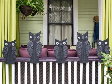 Outdoor Halloween Decoration Banister Owls  Hgtv. Newest Living Room Designs. Blue And Brown Decorating Ideas Living Room. Furniture For Corners Of A Living Room. Designer Living Rooms. Common Paint Colors For Living Rooms. Corner Tables For Living Room. One Sofa Living Room. Chaise Lounge For Living Room