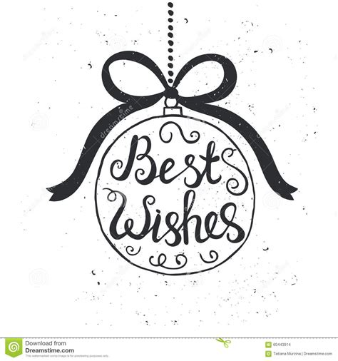 best wishes phrase conceptual handwritten phrase best wishes stock vector