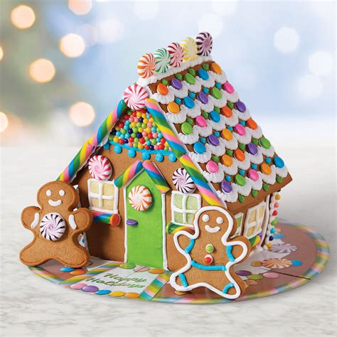 holiday bright gingerbread house  wilton