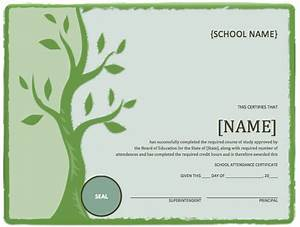 school attendance certificate template microsoft word With certificate of attendance template microsoft word