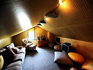Gorgeous ceiling lighting attic bedroom decors with fabric