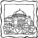 Coloring Dome Building Jerusalem Sheet Edificios Pintar Template Rebuilding Dibujos Buildings Monster Walls Imprimir Temple Nehemiah Alphabet Designlooter sketch template