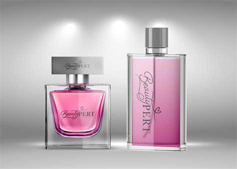 Perfume Bottle Combo Packaging Mockup