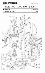 Hitachi M12v Parts