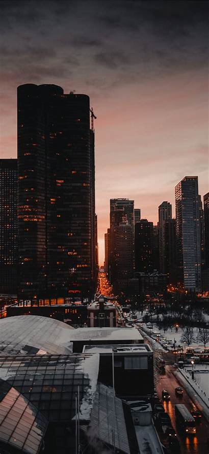 Iphone Usa Chicago Wallpapers Xs Pro Building