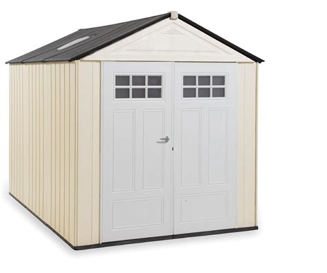 rubbermaid 1825260 outdoor resin storage shed 7 x 10 6