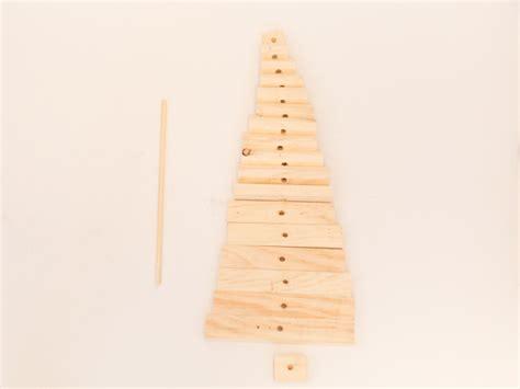 drilling holes in christmas tree diy modern wood tree