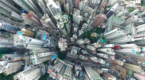 beautiful drones eye view  hong kong  pearl