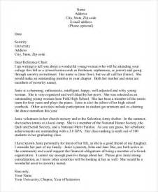 Sorority Recommendation Letter