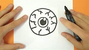 Dessin Facile Halloween : comment dessiner un oeil halloween tuto dessin youtube ~ Melissatoandfro.com Idées de Décoration
