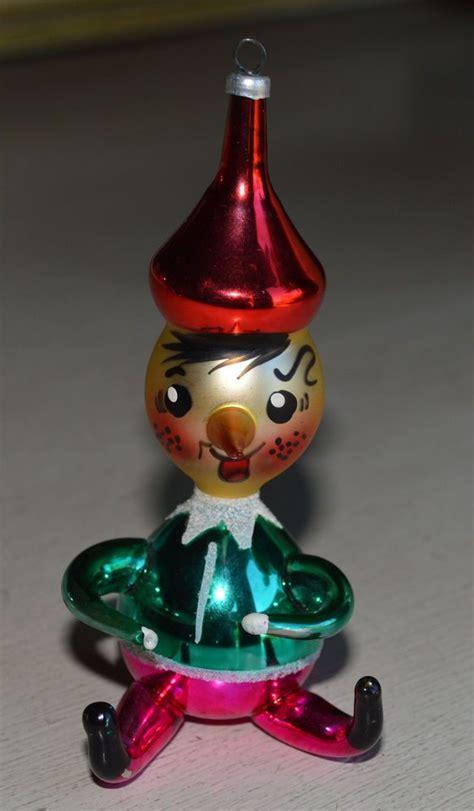 italian christmas ornaments glass hand blown vtg italian blown painted glass ornament roly poly pinocchio