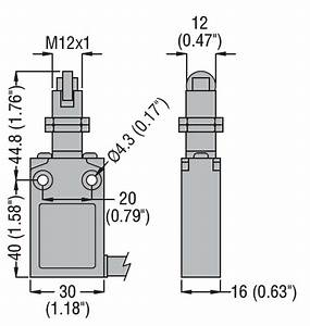 Prewired Metal Limit Switch  K Series  Top Roller Push