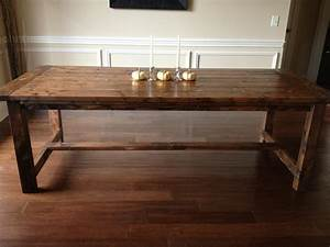 ana white farmhouse diningroom table diy projects With diy dining room table plans