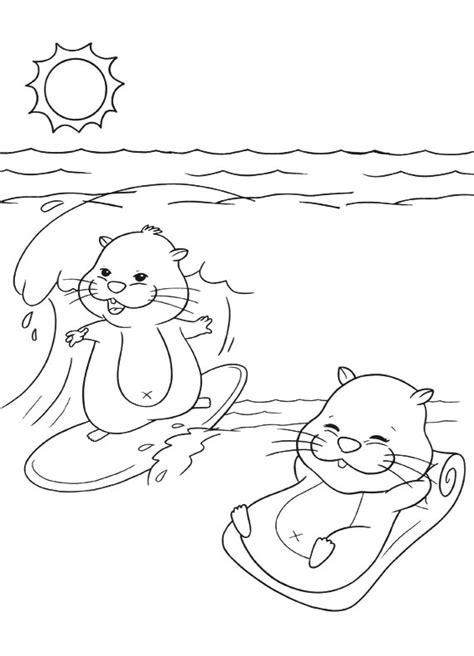 disegni di bambini che giocano al mare zhu zhu pets al mare da stare e colorare