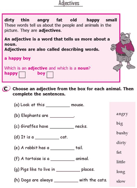 grade 1 grammar lesson 7 adjectives 2 grade 1 grammar lessons english grammar worksheets