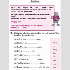 Grade1grammarlesson7adjectives 2  Grade 1  Grammar Lessons, English Grammar Worksheets