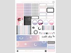 free tumblr vibes printable planner stickers for the Erin