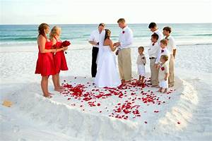 beach ceremony With low budget beach wedding ideas