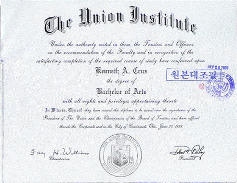 pin bachelor of arts in design certificate with sle