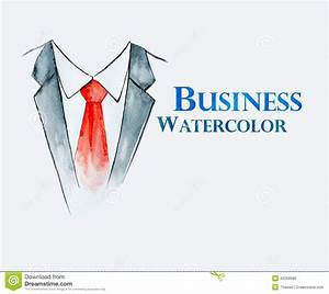 Business Suit With Tie Stock Illustration - Image: 42059985