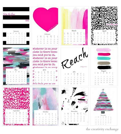 printable  seize  year desktop calendar