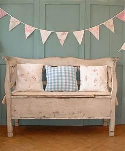 Sitzbank Flur Vintage : rosafarbene sitzbank vintage look antike m bel shabby ~ Watch28wear.com Haus und Dekorationen
