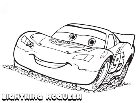 printable lightning mcqueen coloring pages  kids