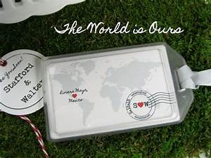 wedding favors the world is ours luggage tag With wedding favor luggage tags