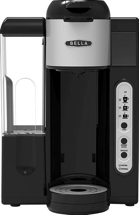 bella single serve coffee maker blacksilver bla