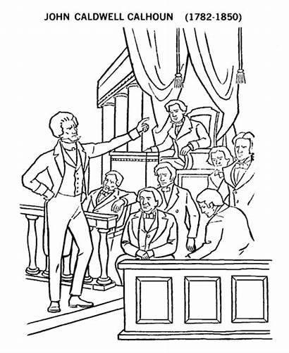 Coloring Pages Congress John Calhoun Usa Printables