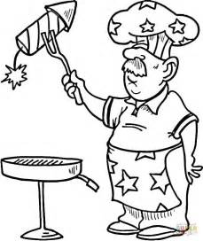 Barbeque Kleurplaten by Independence Day Bbq Coloring Page Free Printable