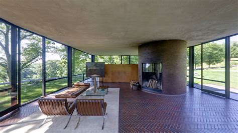 Glass House Johnson by The Glass House Philip Johnson New Canaan Connecticut