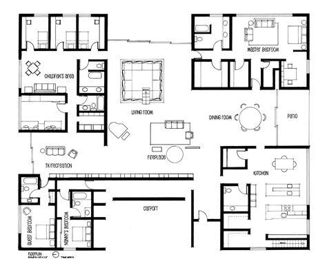 house layout plans drafting eero saarinen 39 s miller house on behance