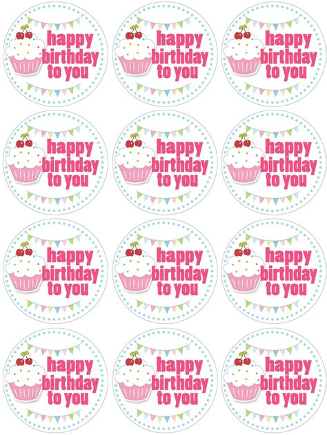 Happy Birthday Decorations Printable by Cupcake Themed Birthday Party With Free Printables Cake