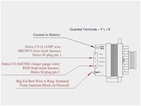 4 Wire Alternator Wiring Diagram by 4 Wire Alternator Wiring Diagram Wiring Diagram