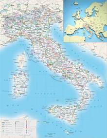 Detailed Map of Italy with Cities