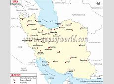 Iran Cities Map, Cities in Iran