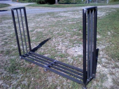 metal wood rack firewood rack specialty trades picture post contractor talk