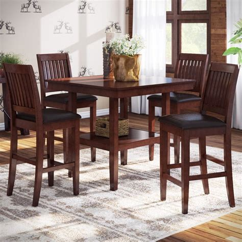 high dining room table distressed finish kitchen dining