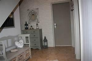 Deco Couloir Blanc : couloir gris et blanc d coration pi ce vivre pinterest ~ Zukunftsfamilie.com Idées de Décoration